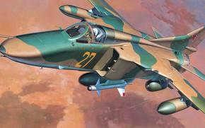 Picture The MiG-27, OKB MiG, Soviet supersonic fighter-bomber, Flogger-D