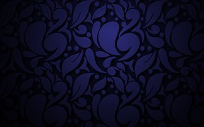Picture abstraction, pattern, ornament, dark blue