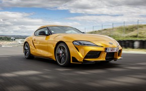 Picture clouds, yellow, coupe, Toyota, track, Supra, the fifth generation, mk5, double, 2019, GR Above, A90, …