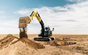 Picture excavator, autonomous vehicle, BUILT ROBOTICS