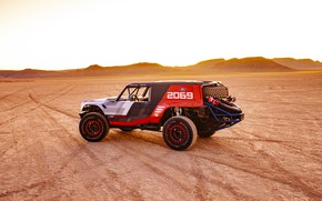 Picture desert, Ford, side view, 2019, Bronco R Race Prototype