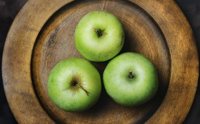 Picture apples, plate, still life