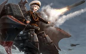 Picture girl, weapons, rocket, Azur Lane