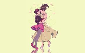 Picture girls, dance, Fanart, Boku no Hero Academy, My Hero Academia, Presence Of Momo, Jirou Kyouka, …