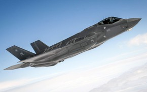 Picture UNITED STATES AIR FORCE, fighter-bomber, Lightning II, F-35, Lockheed Martin
