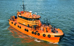 Picture boat, a pilot, Klaipeda