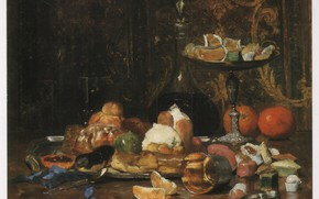 Picture oranges, sweets, spoon, slices, marmalade, treats, cake, GILBERT