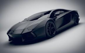 Picture Auto, Black, Machine, Render, Black, Aventador, Lamborghini Aventador, Matt, Transport & Vehicles, Emil Klingberg, by …