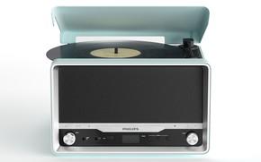Picture design, retro, player, record, PHILIPS OTT2000