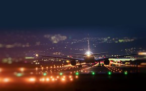 Picture lights, strip, the plane, the rise