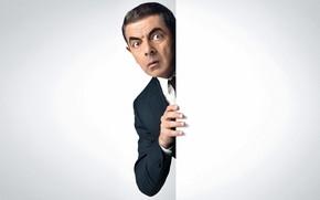 Wallpaper look, pose, costume, actor, writer, Rowan Atkinson, Rowan Atkinson