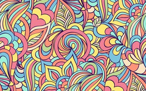 Picture flowers, abstraction, background, pattern, Paisley
