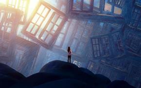 Picture Girl, Girl, Windows, Windows, Fantasy, Art, Art, Fiction, James Grygier, by Jakub Grygier
