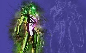 Picture green, girl, fantasy, Hulk, mood, Marvel, muscles, comics, digital art, artwork, superhero, strength, fantasy art, …