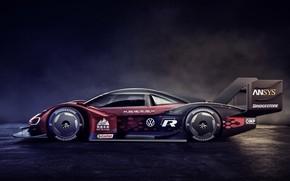 Picture background, Volkswagen, prototype, dark, prototype, in profile, 2019, I.D. R
