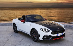 Picture shore, Roadster, spider, black and white, double, Abarth, 2016, 124 Spider
