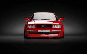 Picture Audi, Red, Auto, Machine, Rendering, The front, Transport & Vehicles, November Tlibekov, by Kasim Tlibekov, …