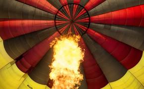 Picture fire, red, yellow, Balloon, Firestarter