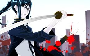 Picture sword, guy, K Project, KURO, project key, Kurose