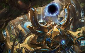 Picture the portal, starcraft, the gates, StarCraft, strategy, protoss, call, protos, gateway
