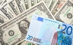 Picture money, dollar, Euro, bills, fon, euro, dollar