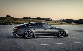 Picture Audi, black, side, RS 7, 2020, V8 Biturbo, RS7 Sportback, 4.0 L., 962 л.с., HGP …