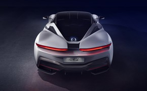 Picture supercar, rear view, hypercar, Pininfarina, 2019, The baptist
