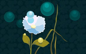 Picture flower, summer, flowers, nature, vector, computer graphics, vector graphics