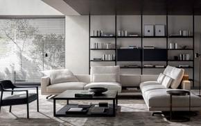 Picture design, style, interior, sofa, living room