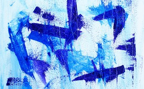 Picture strip, wall, paint, strokes