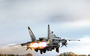 Wallpaper Fighter, Russia, Engines, Art, Art, MiG, MiG, BBC, The rise, Interceptor, Foxhound, The MiG-31, MiG-31, ...