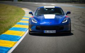 Picture Corvette, Chevrolet, front view, Grand Sport, 2017