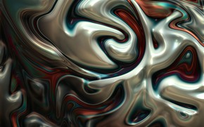 Picture line, metal, abstraction, metallic, plasma, melting, diffusion, mixing