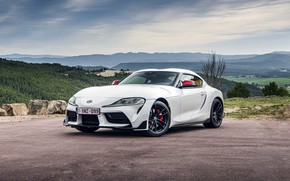 Picture white, coupe, Toyota, Supra, the fifth generation, mk5, double, 2020, GR Above, A90, Gazoo Racing, …