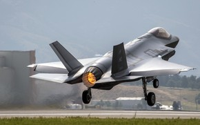 Picture Lightning II, F-35, Lockheed Martin, family unobtrusive multifunction, fighter-bomber of the fifth generation