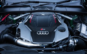 Picture Audi, engine, RS5, Coupe, 2018, RS 5