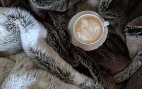 Picture coffee, mug, plaid