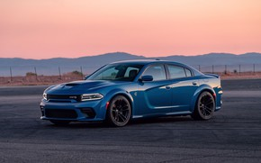 Picture sunset, the evening, Dodge, Charger, Hellcat, SRT, Widebody, 2020