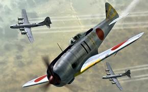 Picture WWII, Ki-44-II, Nakajima That-44, Ki-44 Shoki, USAAF, B-29 Superfortress, JAAF