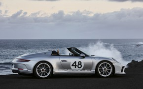 Picture sea, 911, Porsche, profile, Speedster, 991, 2019, gray-silver, 991.2
