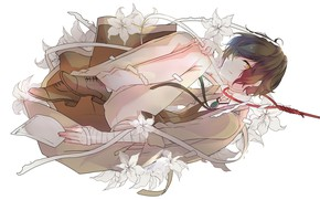 Picture flowers, Lily, loop, Bungou Stray Dogs, Stray Dogs: A Literary Genius, Dazai Osamu