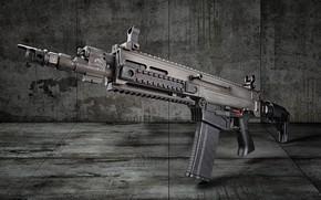Wallpaper weapons, background, machine, CZ BREN