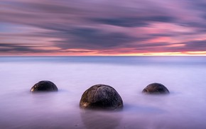 Picture sea, sunset, nature, stones