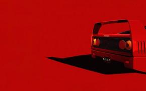 Picture Red, Auto, Machine, Ferrari, Render, Rendering, Supercar, F-40, Transport & Vehicles, Lasse Bauer, by Lasse …