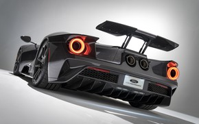 Picture Ford, supercar, Ford GT, rear view, 2020, Liquid Carbon