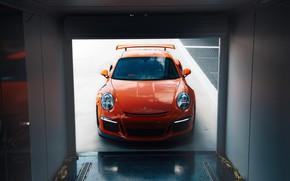 Picture 911, Porsche, Orange, Front, GT3RS, VAG
