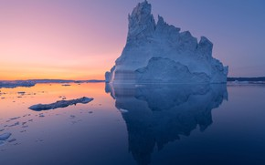 Picture water, reflection, iceberg, water, reflection, iceberg
