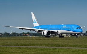 Picture The plane, Liner, 787, Boeing, Dreamliner, WFP, Boeing 787, Chassis, KLM, A passenger plane, Royal …