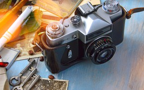 Picture retro, Photo, The camera, Background, keys, the difference