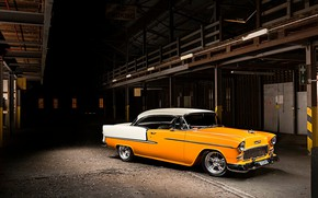 Picture Chevrolet, Classic, Bel Air, Coupe, Vehicle, Bright machine